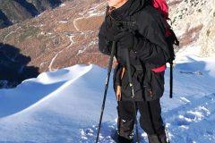 Nonno Palmarino in cresta sopra al vallone