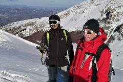 Giovanni e Stefano ad osservare la valle sottostante