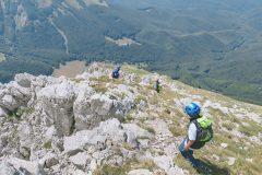 Discesa dalla cresta ovest del Monte Corvo