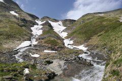 Acqua di cascate da Cima Lepri