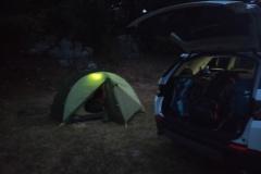 Primo notte in tenda a Piano Visitone
