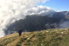 Giovanni verso il Monte Zampa