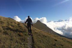 Daniele verso cima di Vallelunga