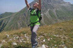 Alessio in vetta al Monte Morrone