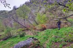 Stefano verso l'uscita del sentiero 300I