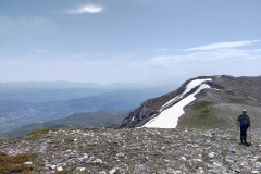 In cresta verso il monte Ocre