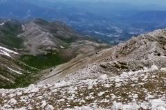 Veduta verso Rocca di Cambio