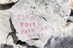 Pietra di vetta Cimata Fossa Palomba
