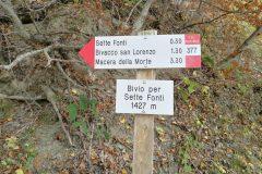 """Segnavia del Parco """"Bivio Sette Fonti"""""""