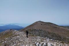 In cresta verso la cima del Miletto