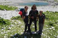 Famiglia felice al Lago di Pilato