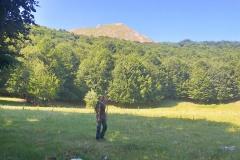 Stefano con il Monte Cava alle spalle