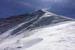 La cima del Gorzano scendendo verso il versante amatriciano