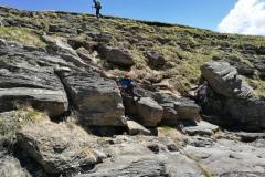 Solcando la roccia arenaria