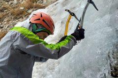 Stefano assaggia il ghiaccio
