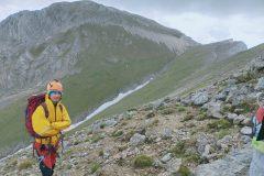 Davide con dietro il Monte Camicia
