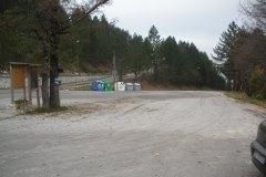 Parcheggio iniziale di Frontignano