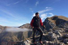 Daniele in cima al Bove Nord