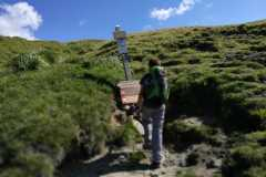 Segnavia del Parco abbattuto (Guado di Annibale)