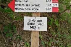 Segnavia del Parco (Bivio Sette Fonti)