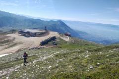 Stefano sul sentiero verso la cresta