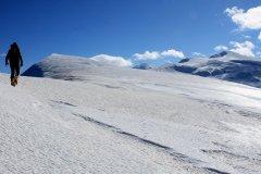 Cresta ghiacciata fino alla vetta