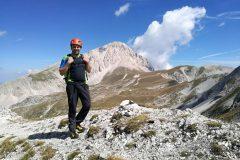 Stefano sulla cresta verso il Monte Portella