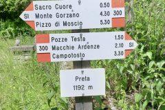"""Segnavia del Parco """"Preta"""""""
