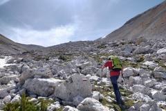 Stefano sul sentiero della parte alta della Rava