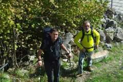 Daniele e Gianfranco nei pressi di Ripe