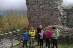 Sui ruderi di Castel Manfrino