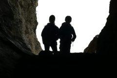 Controluce nelle grotta