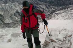 Daniele nei pressi della vetta di Monte Piselli