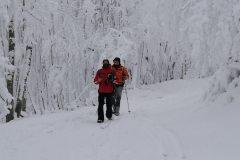 In fila indiana tra i boschi della Laga