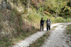 Stefano e Nonno Sergio in cammino
