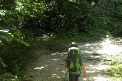 Alessio sulla via verso la cascata