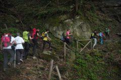 In salita verso la cascata della Volpara
