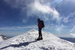 Daniele in cresta verso Cima Lago