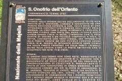 Tabella dell'Eremo di S.Onofrio