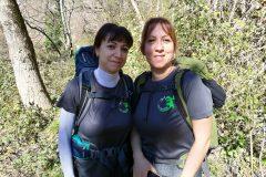 Anna Rita e Patrizia nella suggestiva Valle dell'Orfento