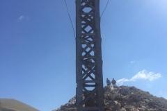 Stefano sulla croce di Monte Bove Nord