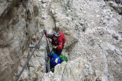 Daniele e Alessio sul verticale della ferrata