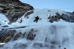 Stefano sulla parte centrale della cascata
