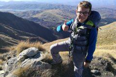 Alessio in vetta al Monte La Cipollara