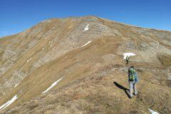 Alessio verso il Monte Gorzano