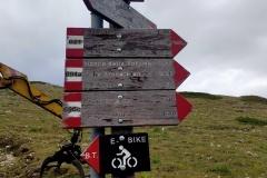 Segnavia del Parco verso il Monte Cotento