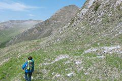 Verso la parete Sud sotto il Berro