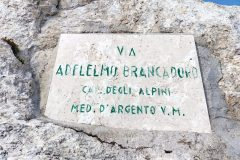 Targa all'attacco della Via Brancadoro - Monte Prena