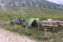 Pernotto in tenda prima del Vado di Corno
