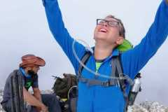Alessio in vetta al Monte Camicia